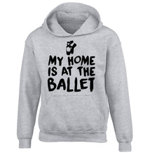 My home is at the ballet children's grey hoodie 12-14 Years