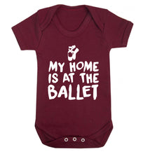 My home is at the dance studio Baby Vest maroon 18-24 months