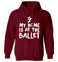 My home is at the dance studio adults unisex maroon hoodie 2XL
