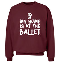 My home is at the dance studio Adult's unisex maroon Sweater 2XL