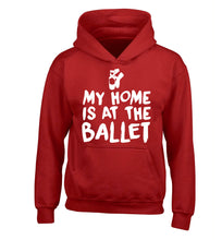 My home is at the ballet children's red hoodie 12-14 Years
