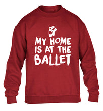 My home is at the ballet children's grey sweater 12-14 Years