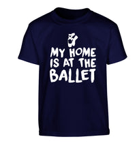 My home is at the dance studio Children's navy Tshirt 12-14 Years