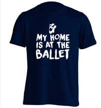 My home is at the dance studio adults unisex navy Tshirt 2XL