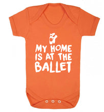 My home is at the dance studio Baby Vest orange 18-24 months