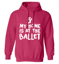 My home is at the dance studio adults unisex pink hoodie 2XL