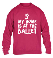 My home is at the ballet children's pink sweater 12-14 Years