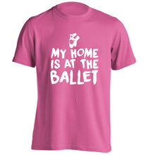 My home is at the dance studio adults unisex pink Tshirt 2XL
