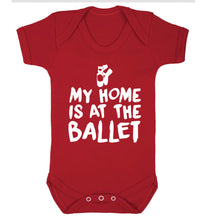My home is at the dance studio Baby Vest red 18-24 months