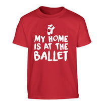 My home is at the dance studio Children's red Tshirt 12-14 Years