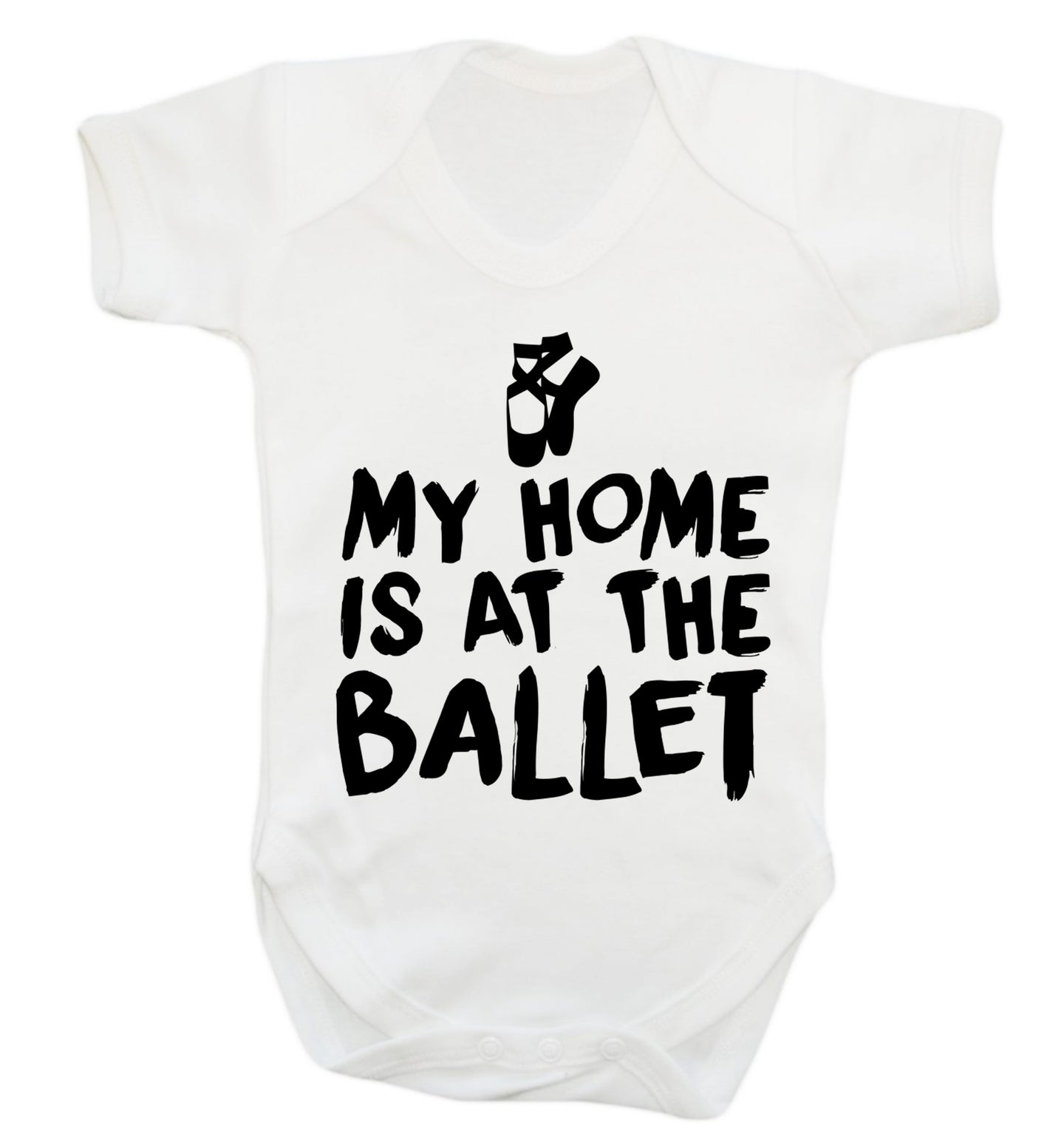 My home is at the dance studio Baby Vest white 18-24 months