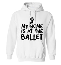 My home is at the dance studio adults unisex white hoodie 2XL