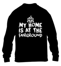 My home is at the fairground children's black sweater 12-14 Years