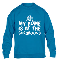 My home is at the fairground children's blue sweater 12-14 Years