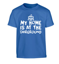 My home is at the fairground Children's blue Tshirt 12-14 Years