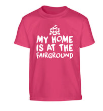 My home is at the fairground Children's pink Tshirt 12-14 Years