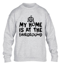 My home is at the fairground children's grey sweater 12-14 Years