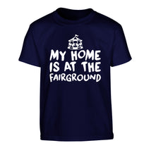 My home is at the fairground Children's navy Tshirt 12-14 Years