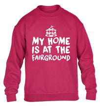 My home is at the fairground children's pink sweater 12-14 Years