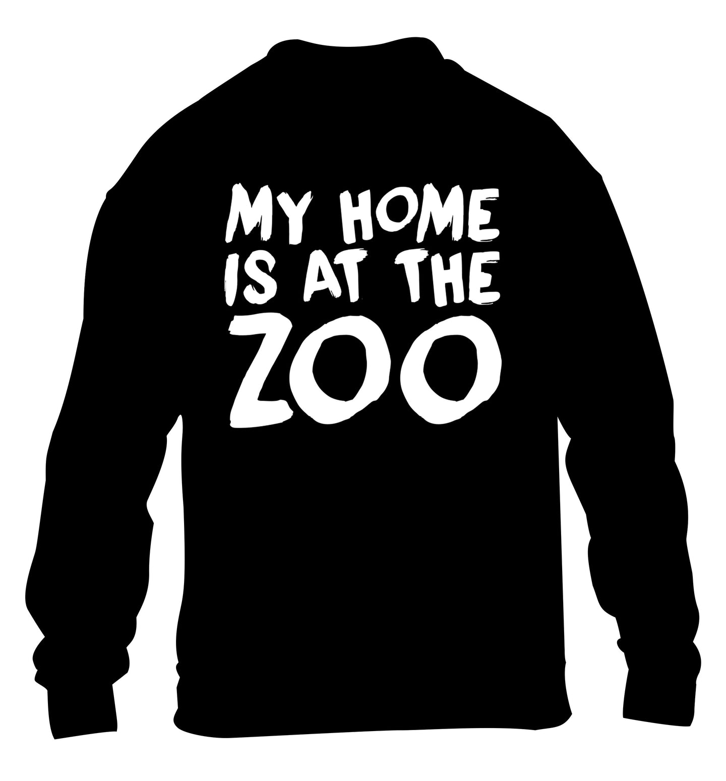 My home is at the zoo children's black sweater 12-14 Years