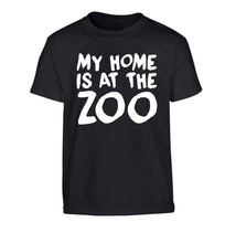 My home is at the zoo Children's black Tshirt 12-14 Years