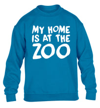 My home is at the zoo children's blue sweater 12-14 Years