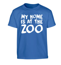 My home is at the zoo Children's blue Tshirt 12-14 Years