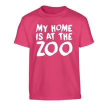 My home is at the zoo Children's pink Tshirt 12-14 Years