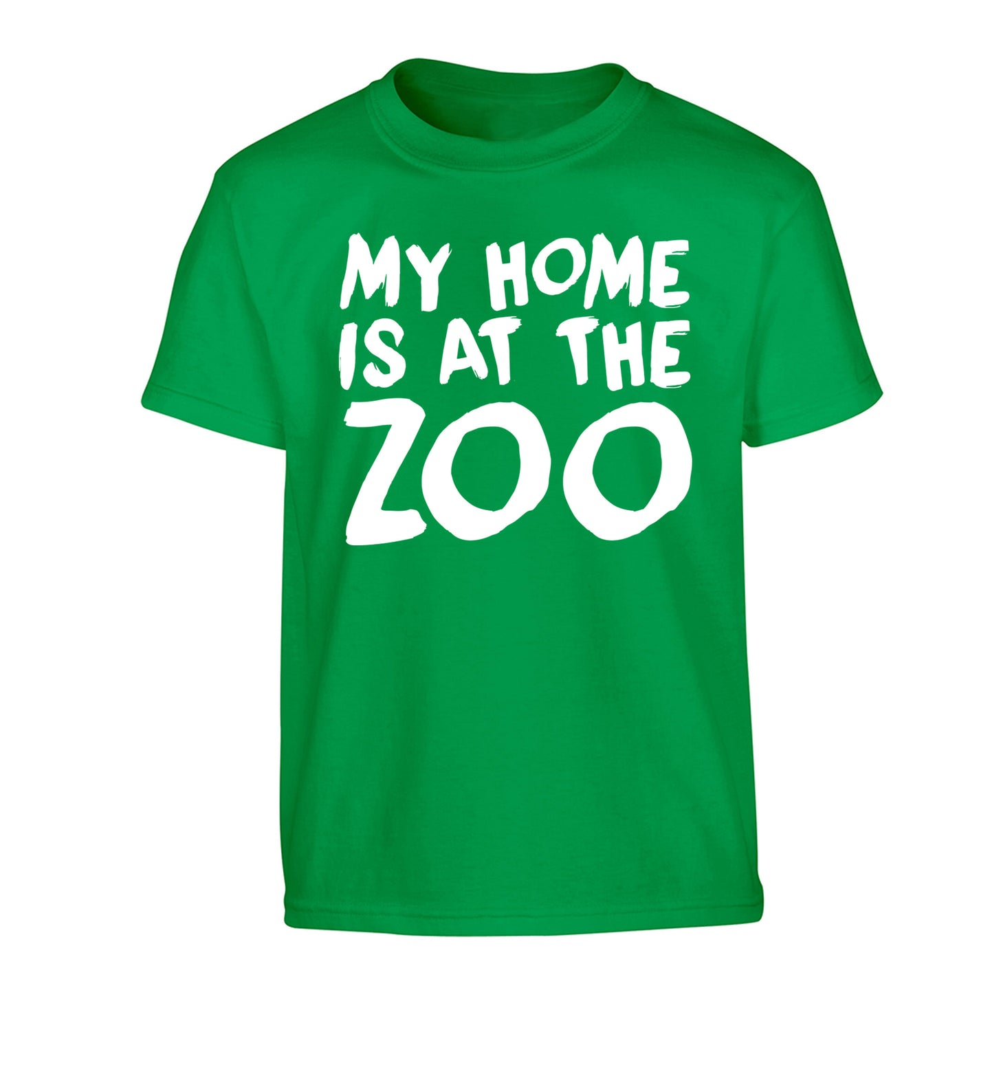 My home is at the zoo Children's green Tshirt 12-14 Years
