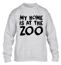 My home is at the zoo children's grey sweater 12-14 Years