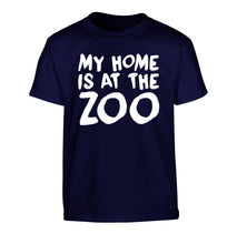 My home is at the zoo Children's navy Tshirt 12-14 Years