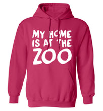 My home is at the zoo adults unisex pink hoodie 2XL