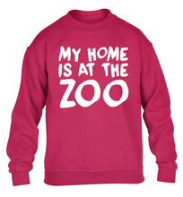 My home is at the zoo children's pink sweater 12-14 Years