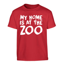 My home is at the zoo Children's red Tshirt 12-14 Years