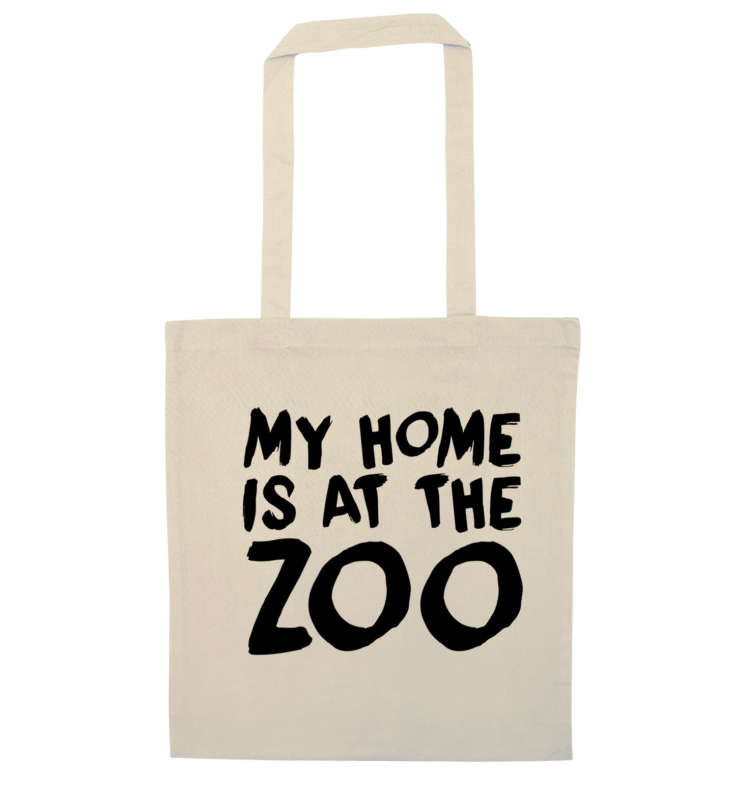 My home is at the zoo natural tote bag