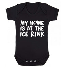 My home is at the ice rink Baby Vest black 18-24 months