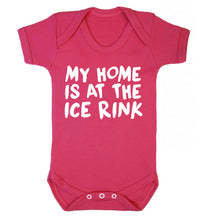 My home is at the ice rink Baby Vest dark pink 18-24 months