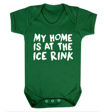 My home is at the ice rink Baby Vest green 18-24 months