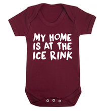 My home is at the ice rink Baby Vest maroon 18-24 months