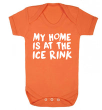 My home is at the ice rink Baby Vest orange 18-24 months