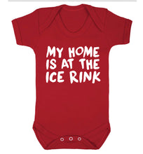 My home is at the ice rink Baby Vest red 18-24 months