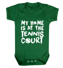 My home is at the tennis court Baby Vest green 18-24 months