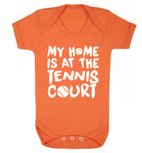 My home is at the tennis court Baby Vest orange 18-24 months