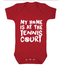 My home is at the tennis court Baby Vest red 18-24 months