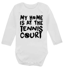 My home is at the tennis court Baby Vest long sleeved white 6-12 months