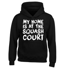 My home is at the squash court children's black hoodie 12-14 Years