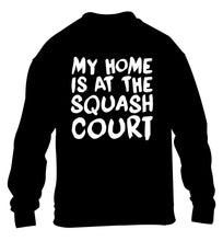 My home is at the squash court children's black sweater 12-14 Years