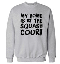 My home is at the squash court Adult's unisex grey Sweater 2XL