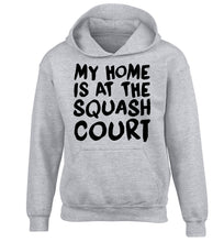 My home is at the squash court children's grey hoodie 12-14 Years