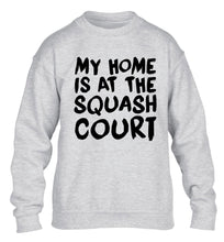 My home is at the squash court children's grey sweater 12-14 Years